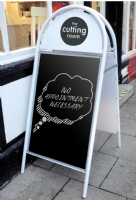 Booster A-board | Pavement Signs | Bath Signs Digital